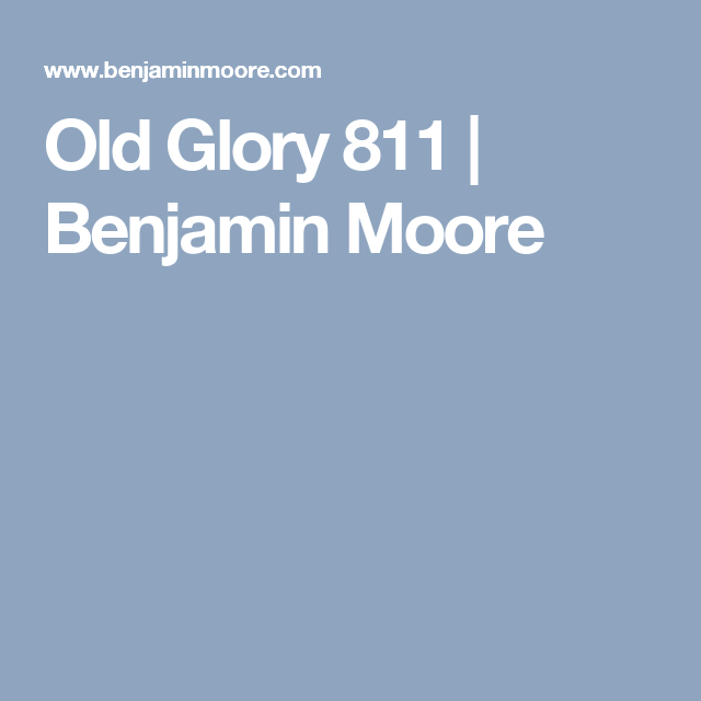 Old Glory 811 Benjamin Moore