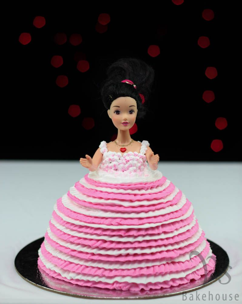Barbie Doll Chocolate Cake Filled And Frosted With Chocolate