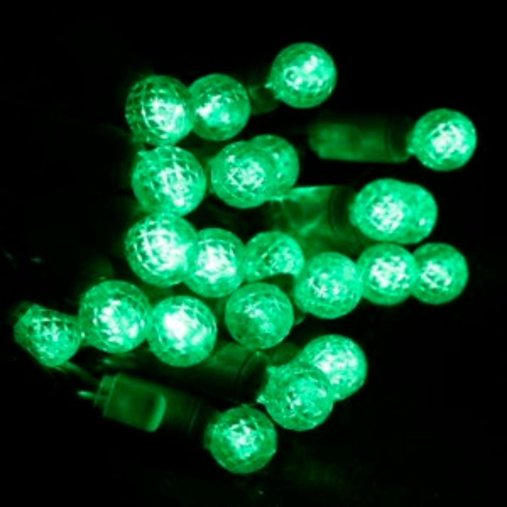 commercial 25 g12 green led string lights 4 spacing