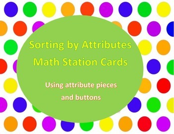 sorting by attributes pieces and buttons cards button cards math and students. Black Bedroom Furniture Sets. Home Design Ideas