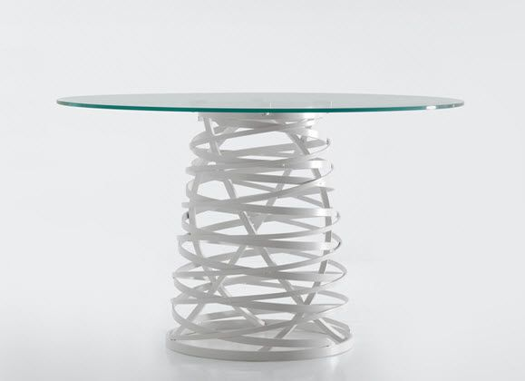 Tavolo design originale / in vetro / rotondo / da esterno NEST by ...