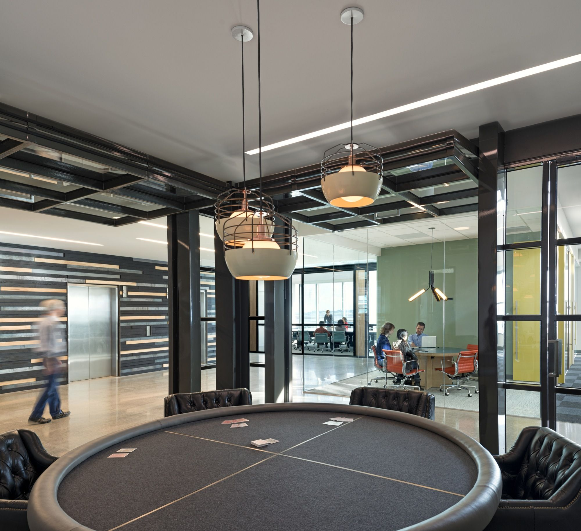 Cisco's Office Lounge Interior Design | Is that a Poker Table?!