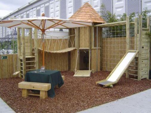Bespoke Wooden Log Cabin Climing Frames - UK Nationwide Delivery And ...