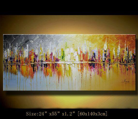 Pintura Del Arte Del Paisaje Original Pintura Abstracta