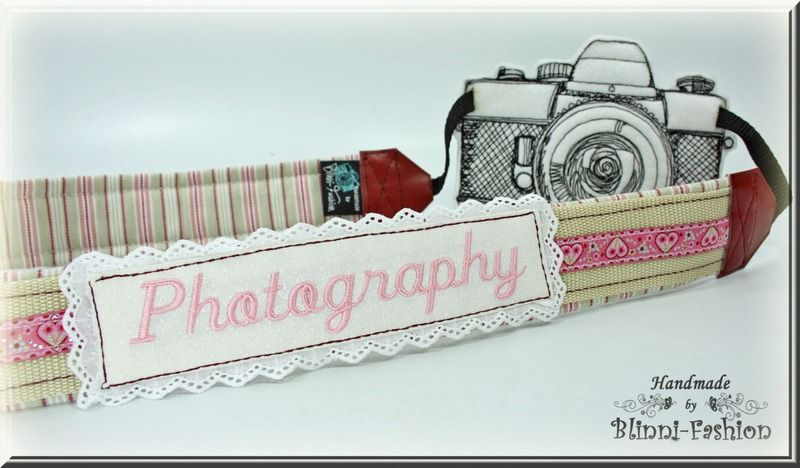 Kameraband / Kameragurt - shabby chic, vintage von Blinni-Fashion auf DaWanda.com