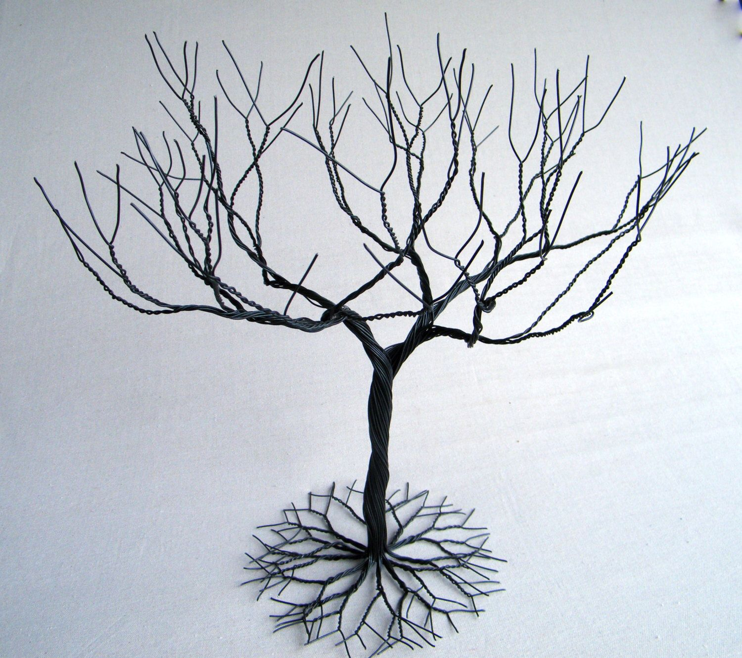Black large Jewelry Tree Stand, wire tree sculpture. perfect for ...
