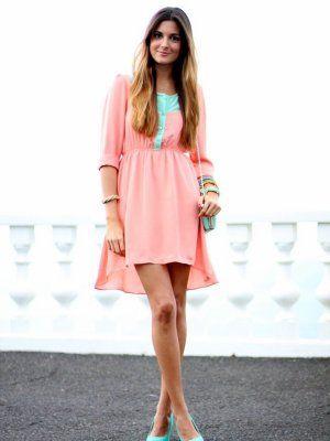 Marilynscloset Outfit Primavera 2013 Combinar Vestido Rosa