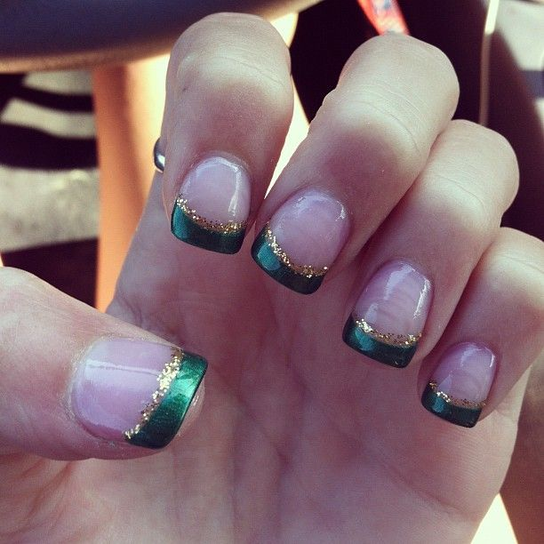 Green and gold tips. #USF   Beauty Board   Pinterest ...