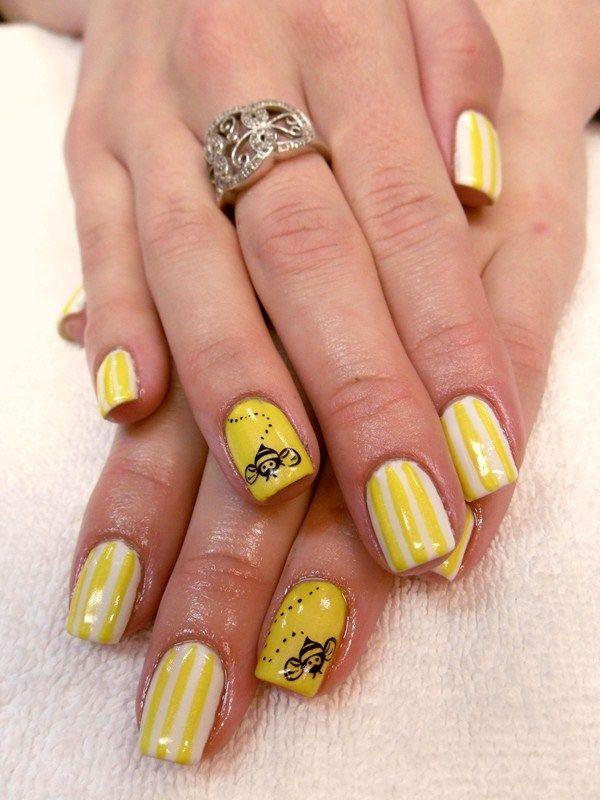 Day 102: Bumble Bee Nail Art - Day 102: Bumble Bee Nail Art Bumble Bee Nails, Christmas Nail
