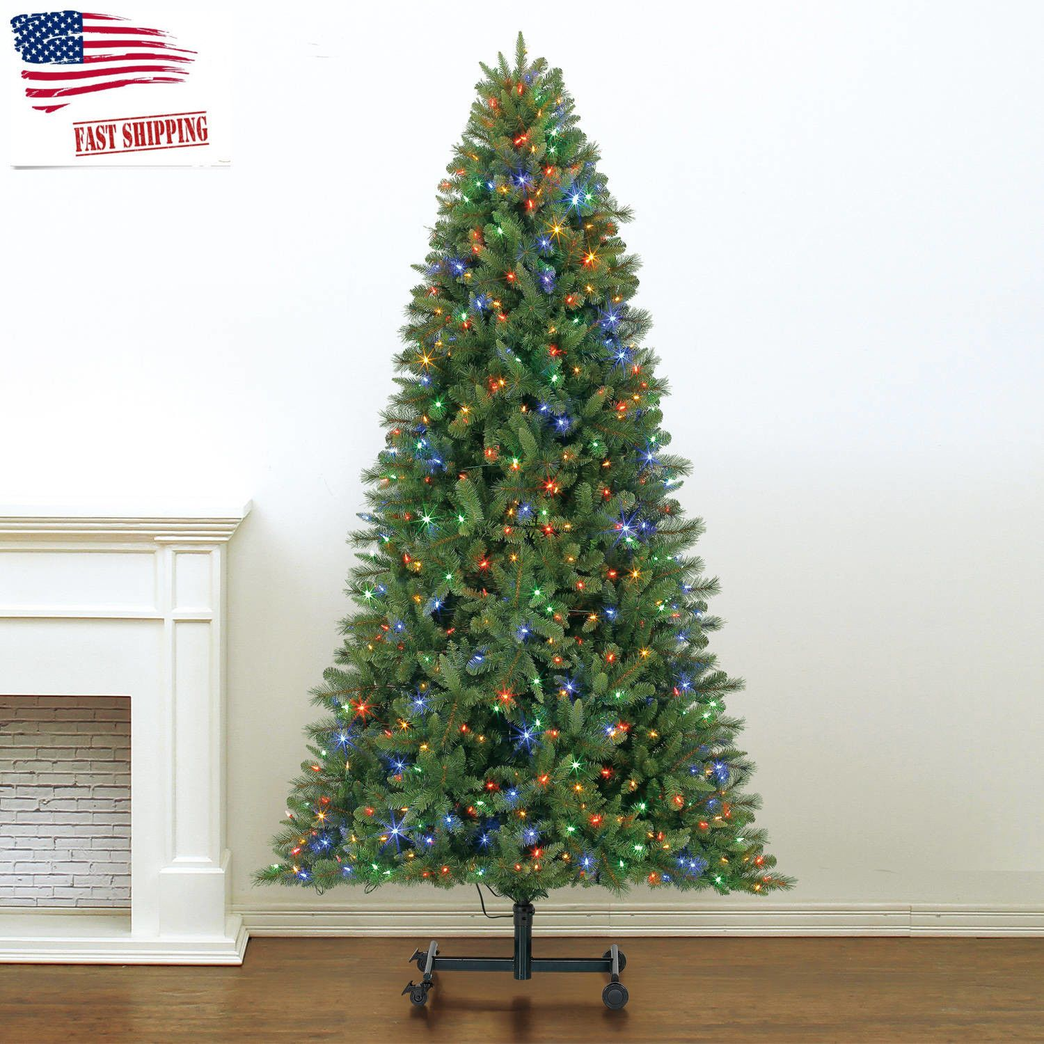 Holiday Time Grow and Stow 7-9\' Pre-Lit Douglas Pine Christmas Tree ...