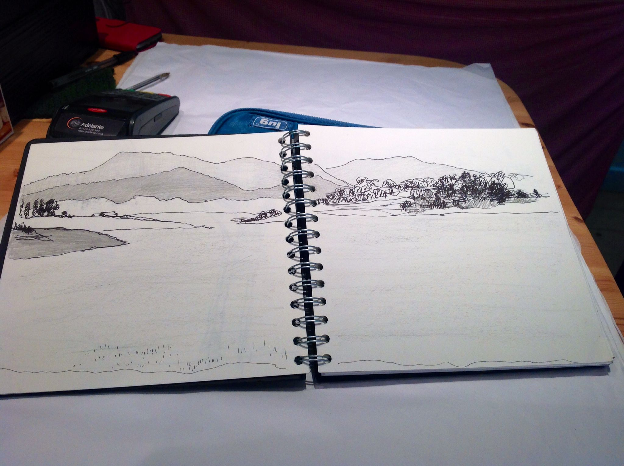 Jo Tunmer sketchbook from travels in India.