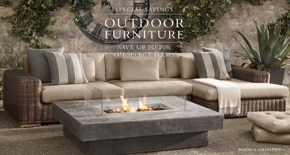 amazing fire table from restoration hardware