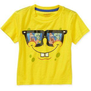 Spongebob Squarepants Toddler Boy Short Sleeve Tee 650 Birthday Shirts Party