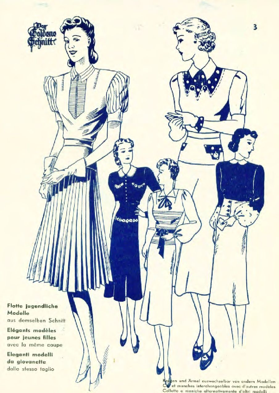 Der Goldene Schnitt 1939 | Mode 1930 -1939 Jahren | Pinterest ...
