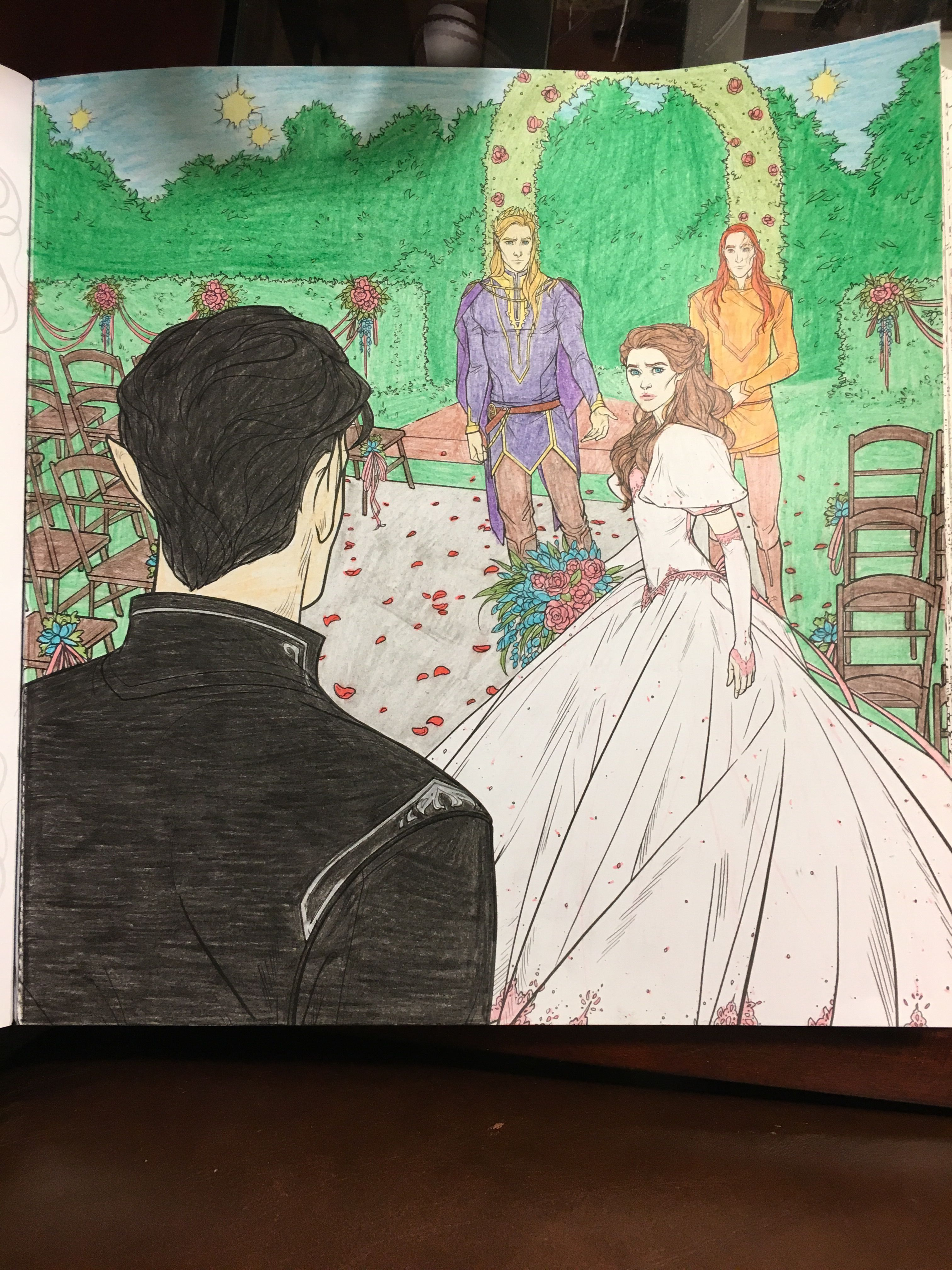 Rhysand Crashes Feyre And Tamlin S Wedding Colored By Lauren