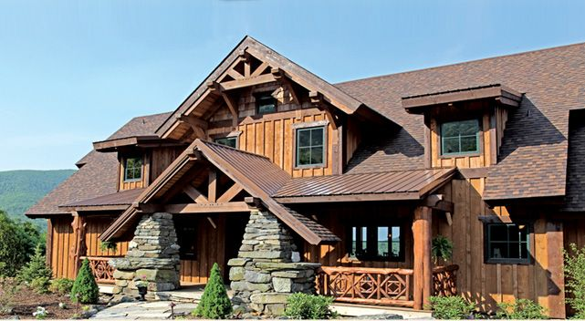 Vista Lodge 2 Story Timber Frame House Plans Log Home Designs