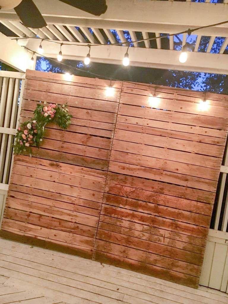 Pallet Wall Photo Backdrop Diy Photo Backdrop Pallet Backdrop