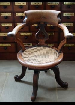 Pleasant Mahogany Desk Chair With Cane Seat English Circa 1900 Short Links Chair Design For Home Short Linksinfo