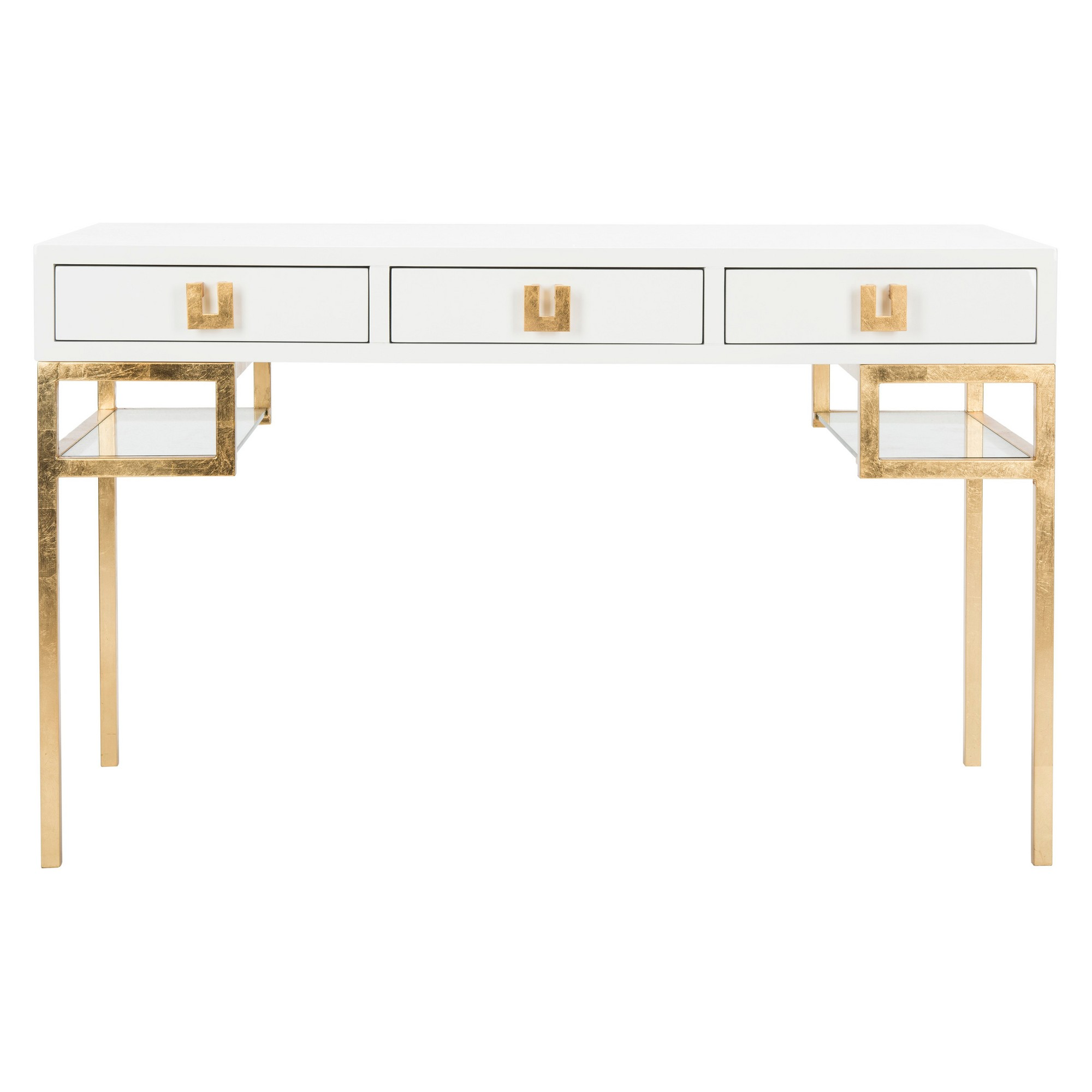 Writing Desk White Gold Safavieh In 2019 Products Writing Desk