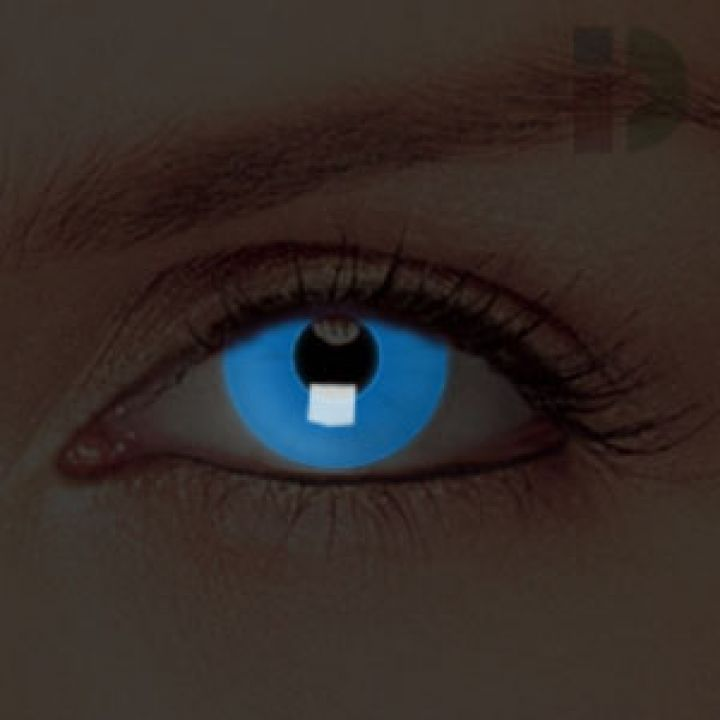 iD Lenses Blue Glow In The Dark Contacts | Contact lenses ...