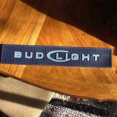 Bud light bar runner rubber mat brand new