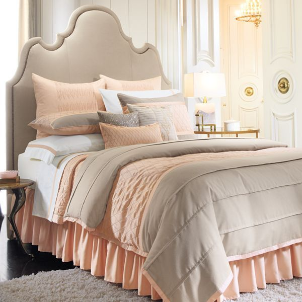 Peach Amp Tan Bedding Set New Room Ideas Peach Bedroom