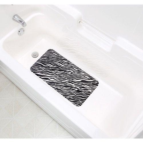 Duck Brand Dk Designer Bathmat X Blkwht Zebra Bath And House - Zebra bath mat for bathroom decorating ideas