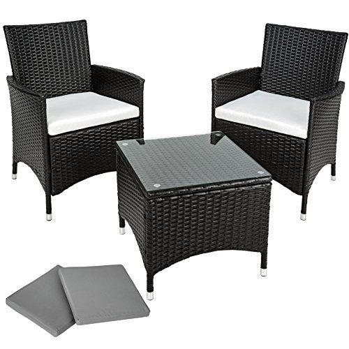 TecTake Salon de jardin Table de jardin en aluminium et poly ...