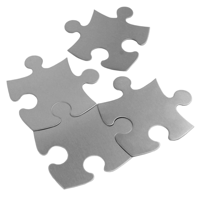 PennKitchen Stainless Steel 4-Piece Puzzle Coaster / Trivet Set ...