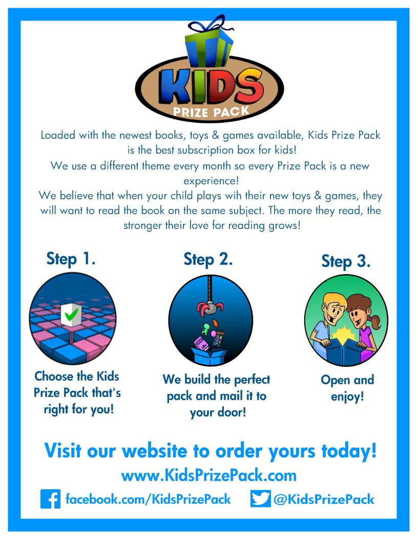 Kids Prize Pack - 3 Step Process. Getting your Kids Prize Pack couldn't be more simple or convenient!