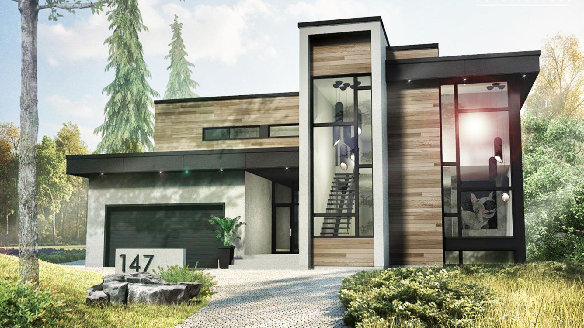2 Story Modern House Style 53x47 Diy Patio House Styles