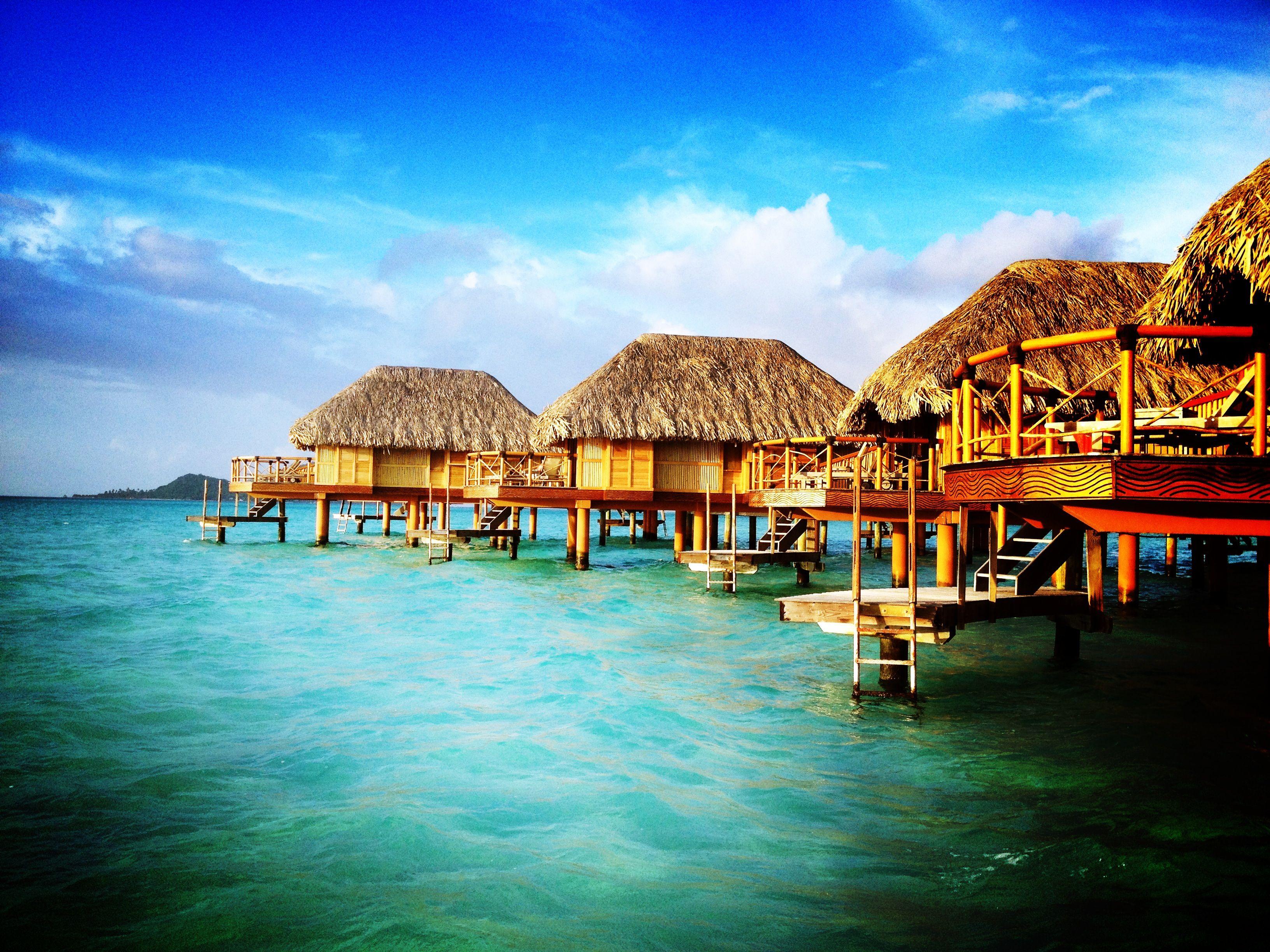 Phoneography Challenge: Overwater bungalows at the Bora Bora Pearl Beach Resort  @Photojojo  @Brit Morin