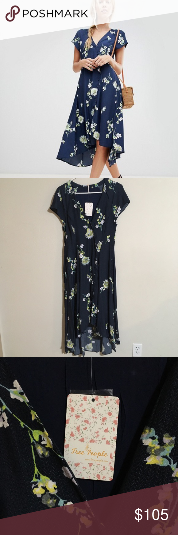 dd92b60196f5 Free People   Lost In You High Low Midi Dress New with tags not used no