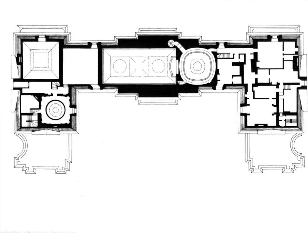 Chateau De Maisons Laffitte Floor Plan Of The Second Floor 1 013 766 Pixels Floor Plans Architectural Floor Plans Exterior Cladding