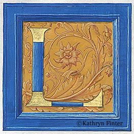 Letter L, Kathryn Finter Contemporary Manuscript Illumination