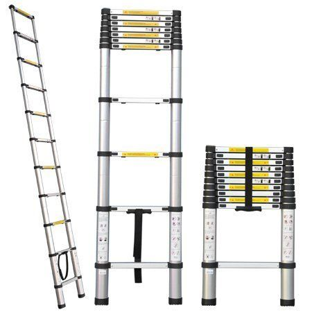 Professional Heavy Duty 10 5 Ft Aluminum Extension Telescopic Contractor Ladder Type 330 Lbs For Sale Aluminium Ladder Ladder Bathroom Exhaust Fan