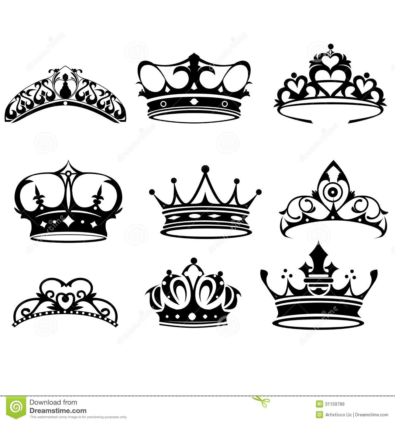Icones De Couronne Images Libres De Droits Image 31159789