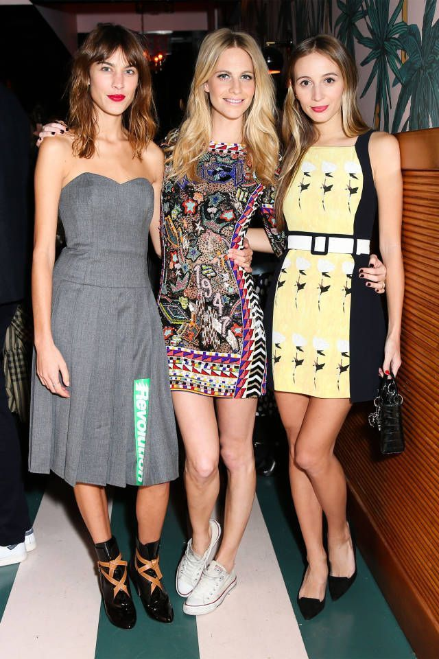 Alexa Chung Poppy Delevingne and Harley Viera Newton. Last night Poppy Delevingne launched her first swimwear collection with Solid  Striped. See the best pics from the soiree here: #fashion #Alexa #Chung #collection #Delevingne #Harley #launched #Newton #Night #Poppy #Solid #Striped #swimwear #Viera