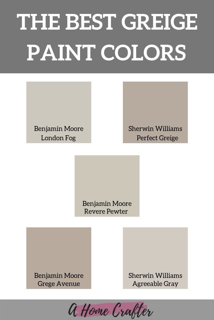 A Guide To Greige Paint Colors The Perfect Neutral Paint Best Greige Paint Color Greige Paint Colors Greige Paint