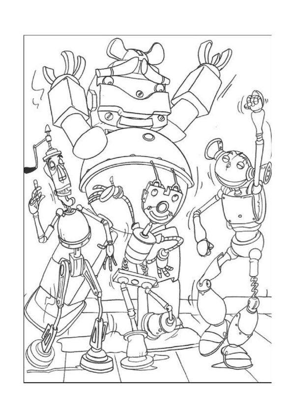 Robots Coloring Pages 1 | Coloring Pages (Robots) | Pinterest | Robot