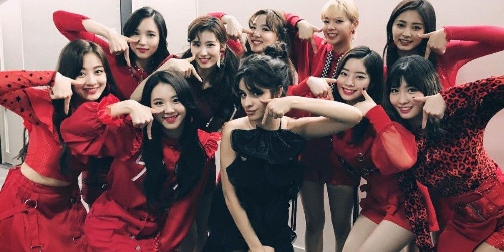 Twice Members Meet Camila Cabello In Japan Camila Cabello Kpop Girls Kpop Girl Groups