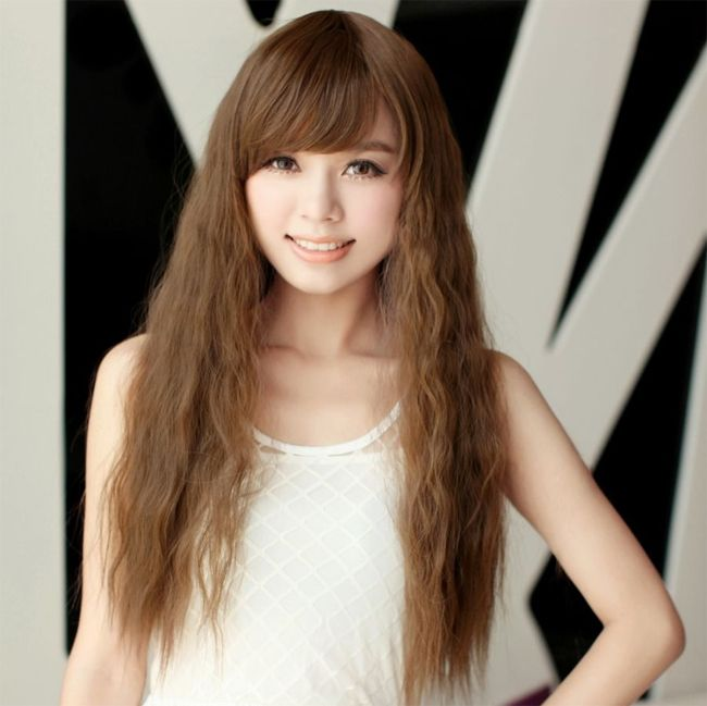 Fantastic Long Curly Hairstyles For Korean Girls Long Hair Styles Hair Styles Asian Hair