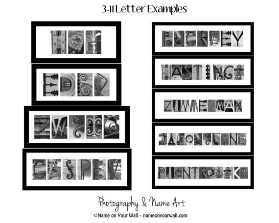 6 Letters - Personalized Framed and Matted Alphabet Photography
