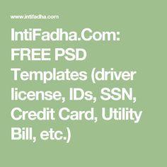 intifadha com free psd templates driver license ids ssn credit