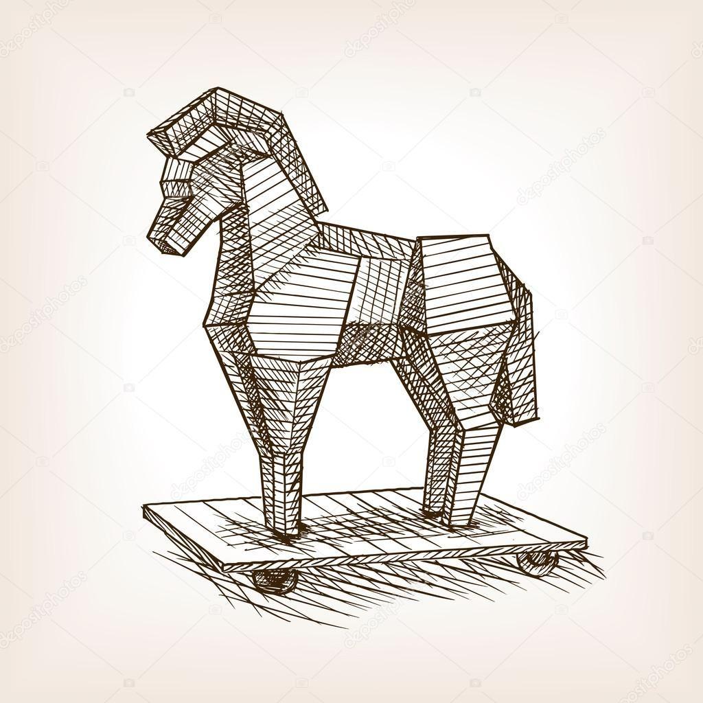Como Dibujar El Caballo De Troya Buscar Con Google Caballo De