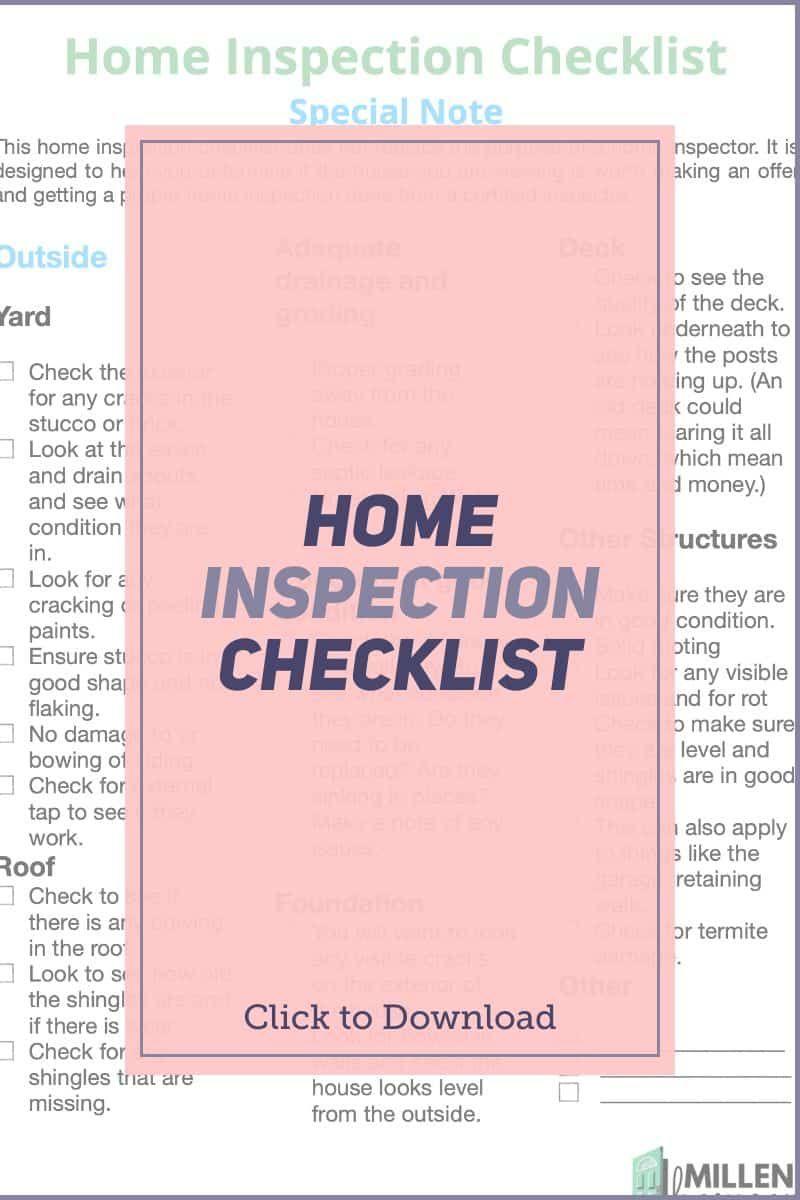 Home Inspection Checklist Are Pdf Printable Inspection Checklist Home Inspection Buying Your First Home