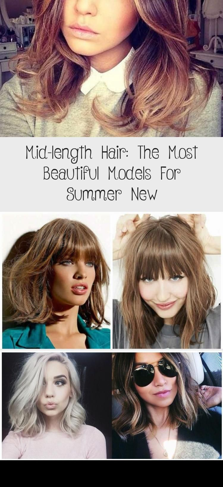 mid-length hair: the most beautiful models for summer New