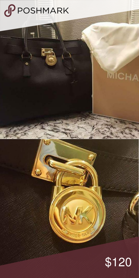 128f89116a60 Michael Kors Hampton Handbag This handbag is like new. Inside lining has no  stains. Authentic. Bags Satchels