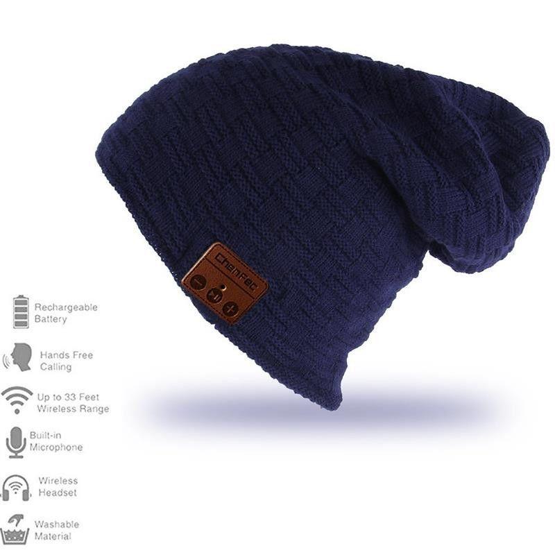 Wireless Bluetooth Beanie Hat Cap With Speaker Mic