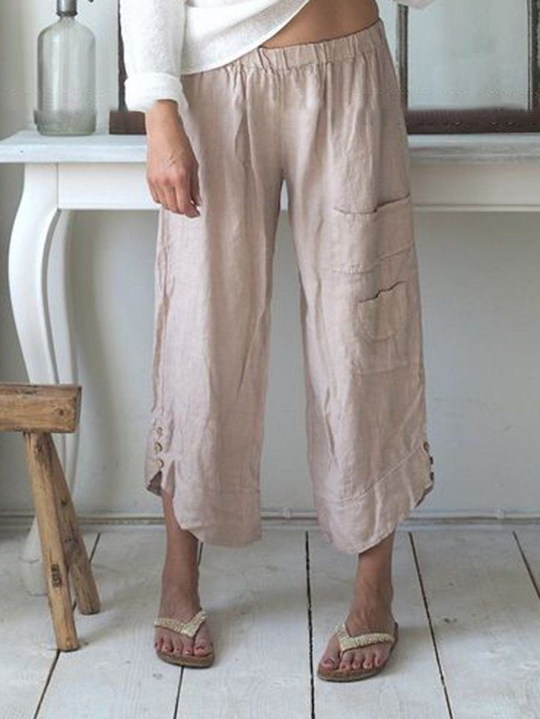 84405894ee Linen Clothing YX – NORACORA | Style in 2019 | Pants, Wide leg linen ...